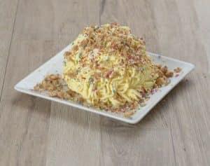 Mini-Spaghettieis Karamellkeks